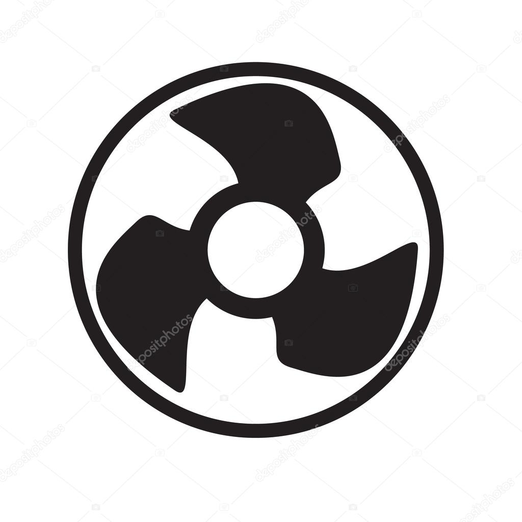 Symbool Ventilator Vcentilator Fan Propeller Vector Symbol Icon Stock