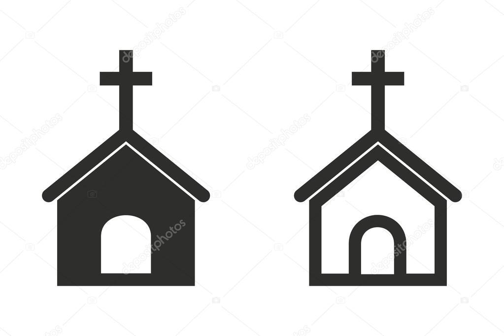 Church - vector icon \u2014 Stock Vector © lovemask #112900122