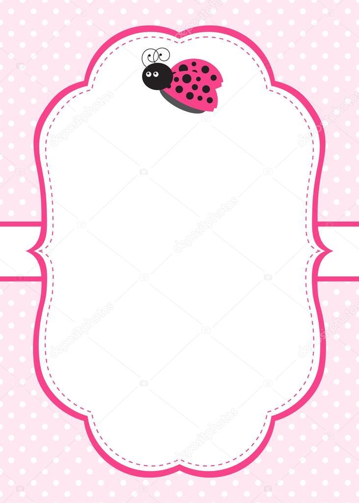 Ladybug Invitation Template \u2014 Stock Vector © marlenes9 #121206216