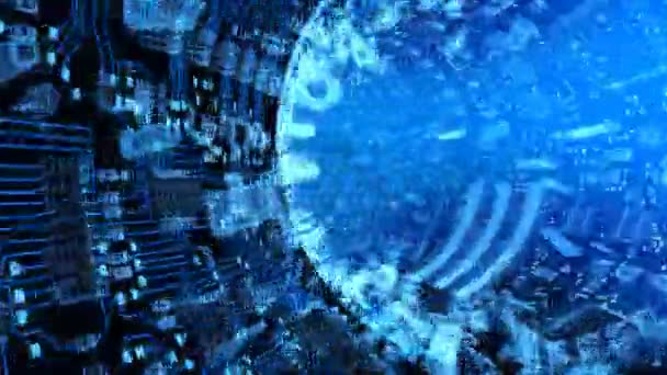 Depth Photo 3d Live Wallpaper Download Abstract Hardware Tunnel Made Of Chips And Microcircuits
