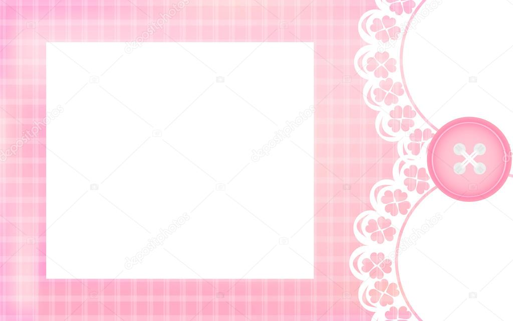 Newborn Baby Girl Wishes Wallpaper Baby Girl Shower Card Pink Background As Greeting Card