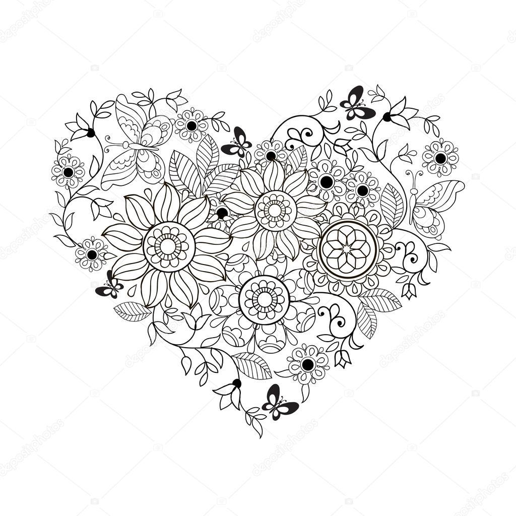 kolorowanki kolorowanki serce do druku dla dzieci i