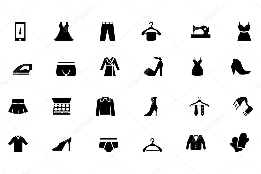 Fashion Vector Icons 3 \u2014 Stock Vector © creativestall #85441904