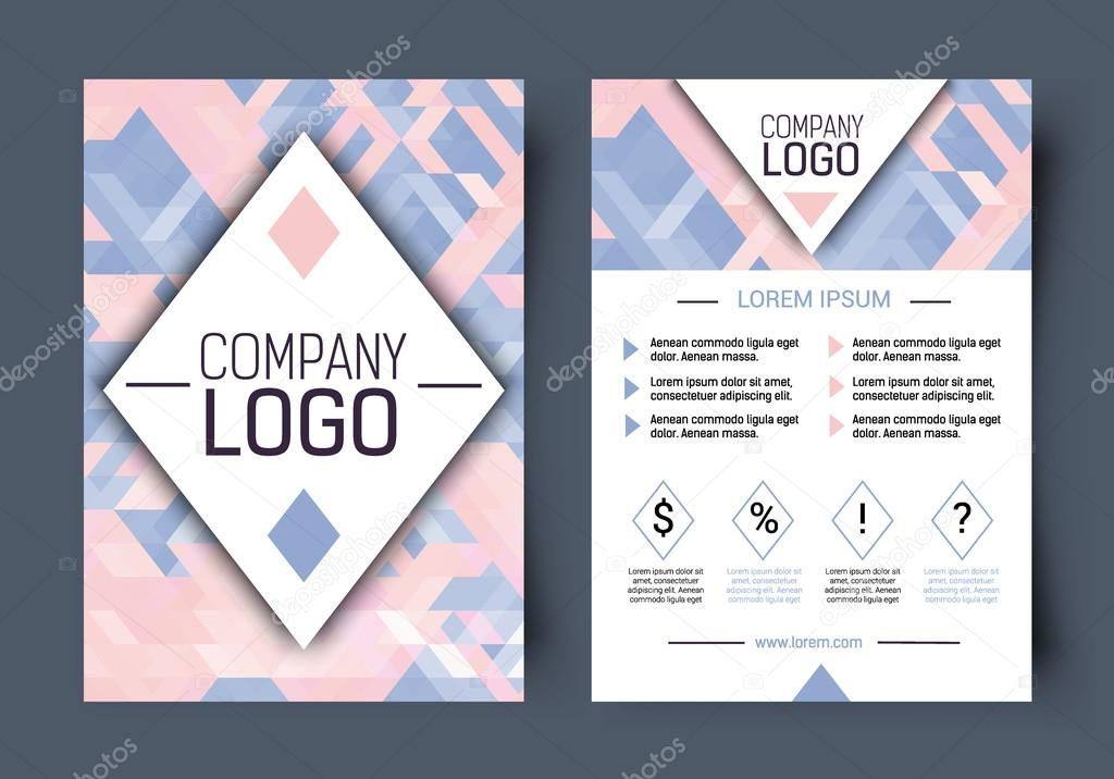 Vector Brochure corporate blank template Front page and back page
