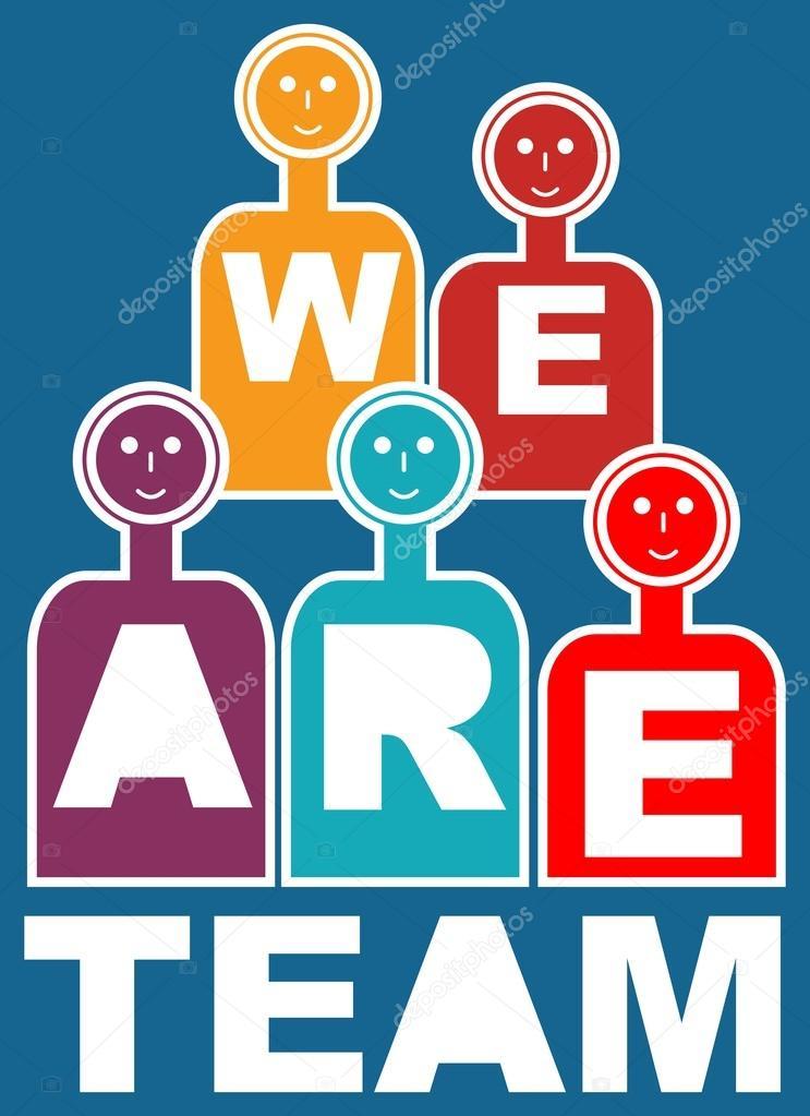 We are team, motivation slide for presentation, training, education