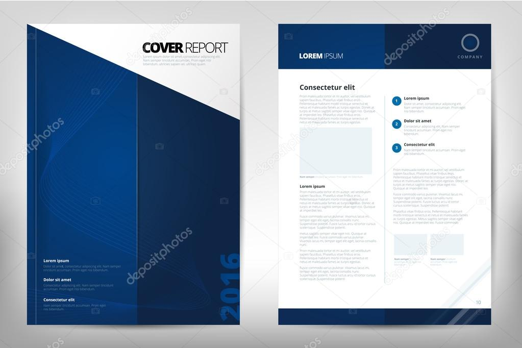 Modern Cover Annual Report Brochure - business brochure - Catalog
