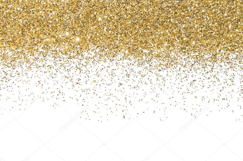 Falling Glitter Wallpaper Gold Border Sequins Golden Shine Powder Glitter