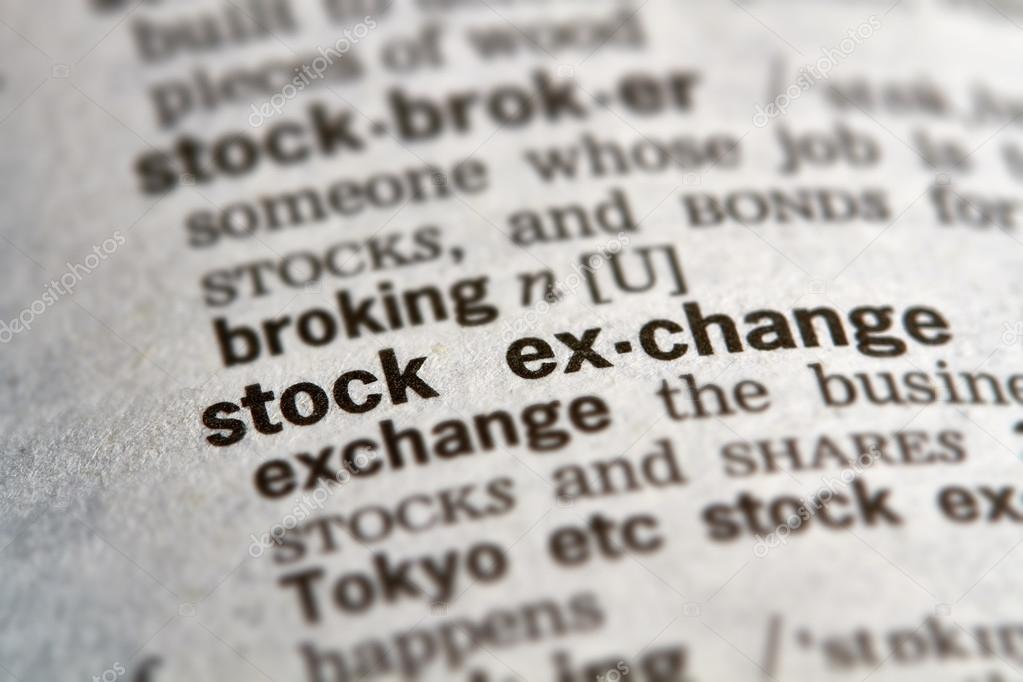 Stock Exchange Word Definition Text \u2014 Stock Photo © outchill #102861620