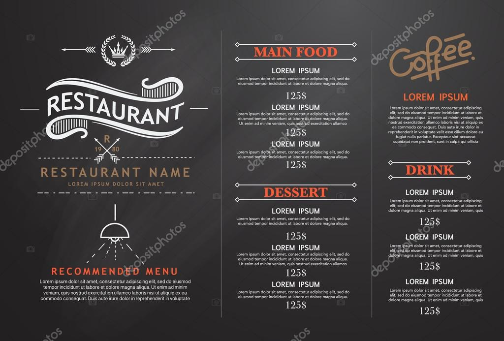 Menu design Stock Vectors, Royalty Free Menu design Illustrations
