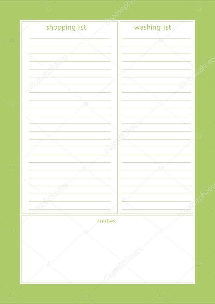 planner, organizer, notepad template \u2014 Stock Vector © photovolga - notepad paper template