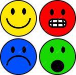 Conjunto De Coloridas Caritas Emoticones Vector De Stock Prawny