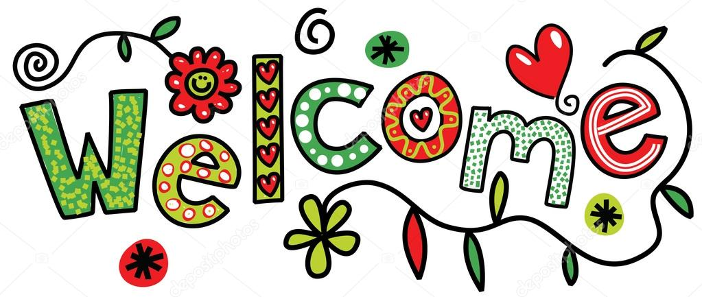 Hand painted word welcome \u2014 Stock Vector © Prawny #81779024