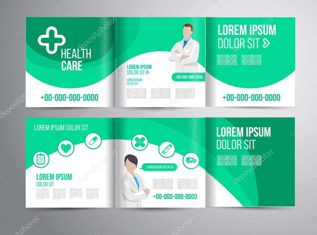 Healthcare brochure for clinic with doctors u2014 Stock Vector - healthcare brochure