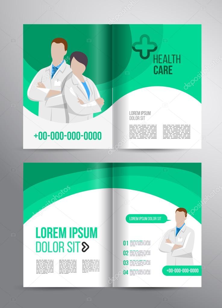 Healthcare brochure for clinic with doctors \u2014 Stock Vector © alejik - healthcare brochure