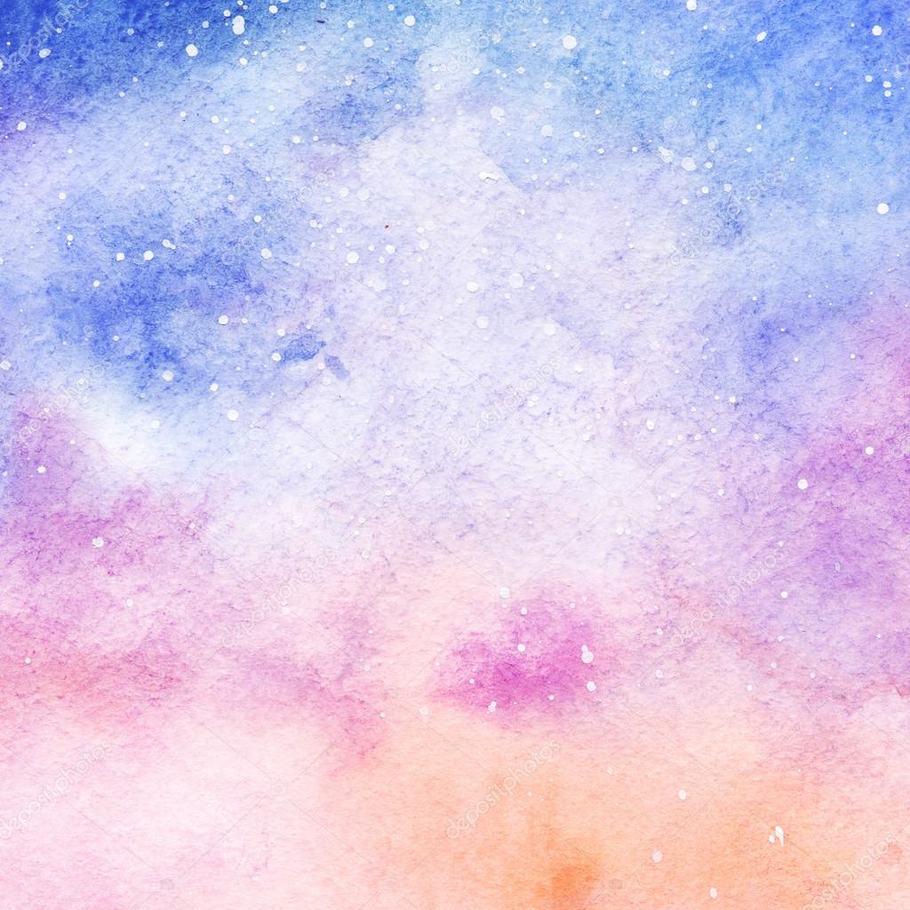 Cool Space Iphone Wallpaper Fondo De Acuarela Colorido Espacio Estrellado Galaxia