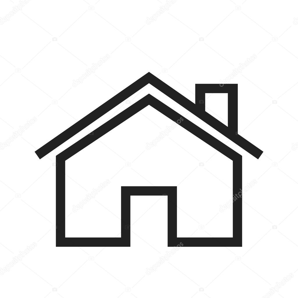 Icon Haus Beautiful Home House Icon Stock Vector Dxinerz 77351640