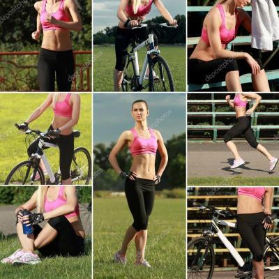 Sport-Collage. Sport- und Lifestyle-Konzept — Stockfoto ...