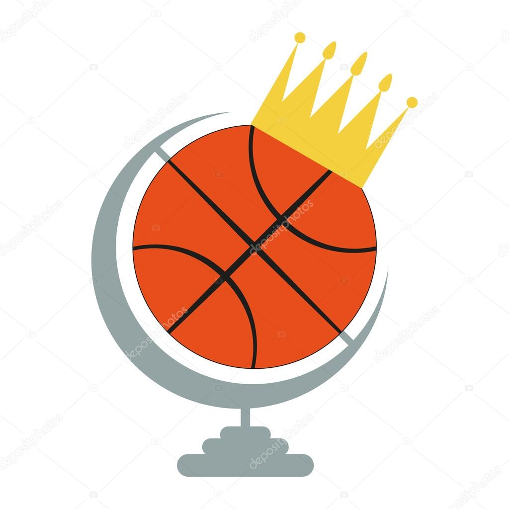 Basketball Ball Basketball Ball Icon With Crown Stok Vektör Frimufilms 93563174
