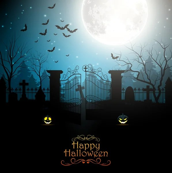 Cute Halloween Bat Wallpaper Halloween Party Poster Background With Spooky Graveyard