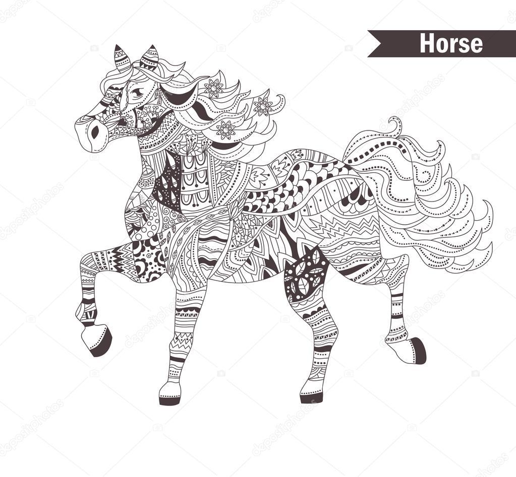Coloring book horses - Download