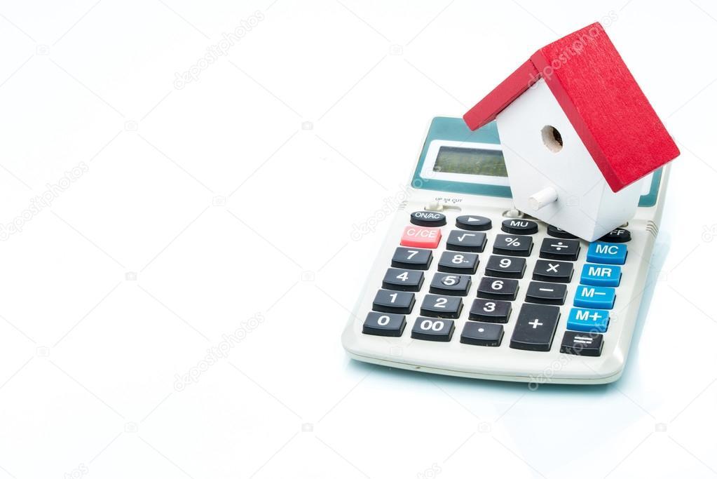 Dům na kalkulačka, Hypoteční kalkulačka \u2014 Stock Fotografie