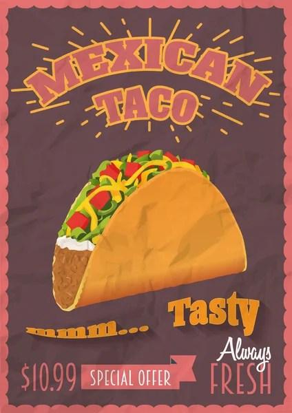 Mexican tacos logo template \u2014 Stock Vector © AlfaSmart #171160588
