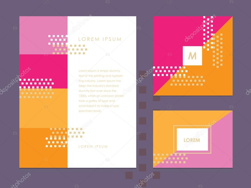 Letterhead template, business card and brochure cover \u2014 Stock Vector