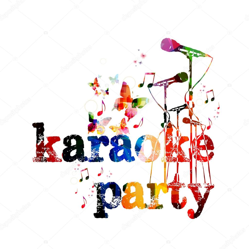 Sfondo Manifesto Karaoke Party Background Stock Vector Abstract412