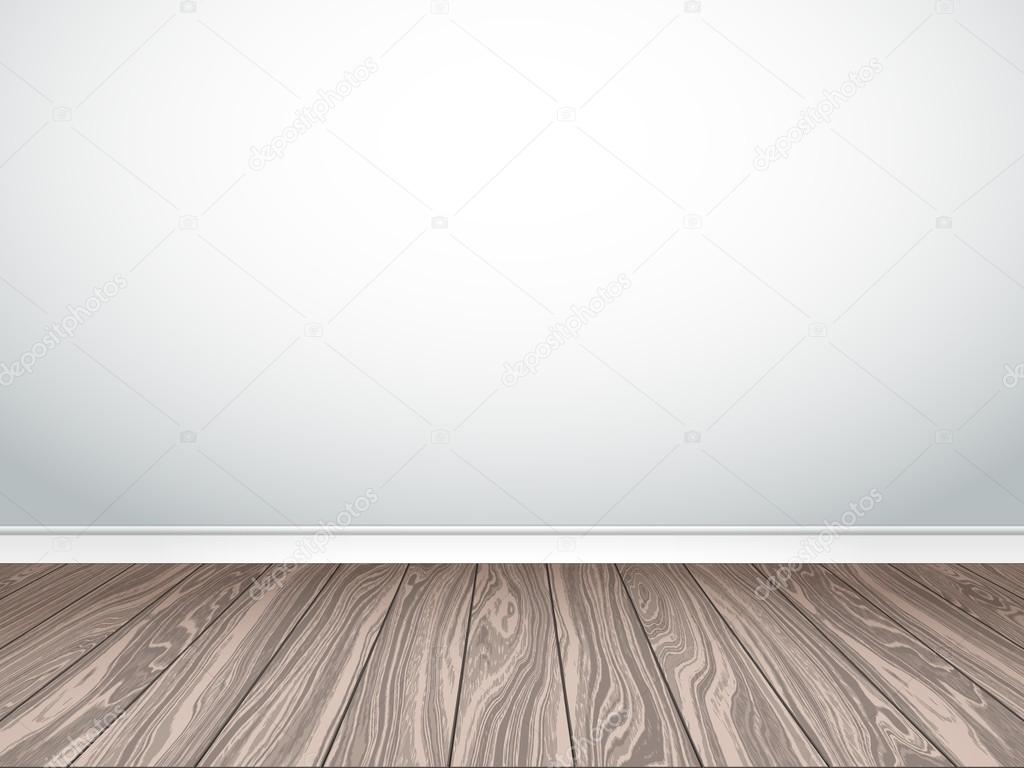 Texture Parete Bianca Empty White Wall And Parquet Interior Empty Room Vector