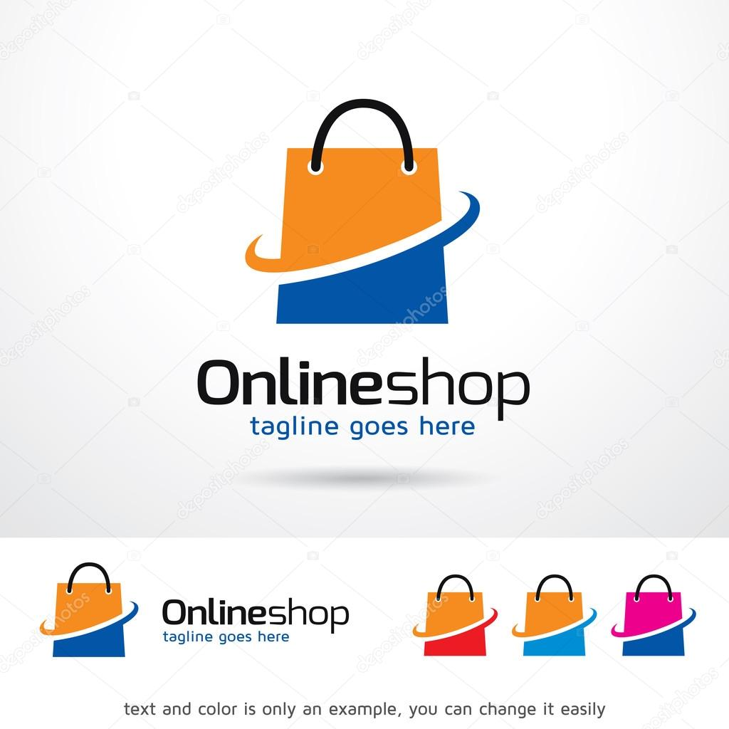 Design Online Shop Online Shop Logo Template Design Vector Stock Vector