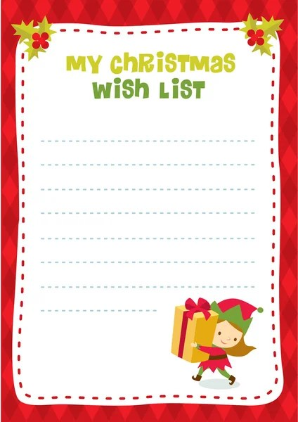 Wish list Stock Vectors, Royalty Free Wish list Illustrations - christmas wish list paper