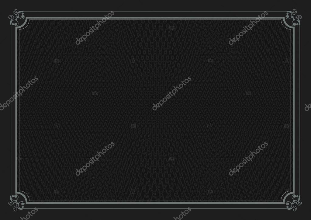 Black border A4 size certificate retro paper background \u2014 Stock - black border background