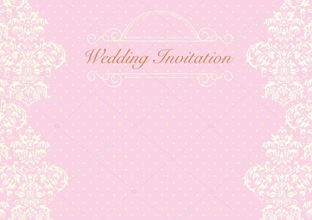 Light pink wedding invitation background \u2014 Stock Vector © cougarsan