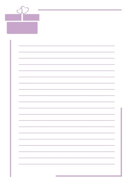 white notebook sheet with horizontal lines \u2014 Stock Vector - horizontal writing paper
