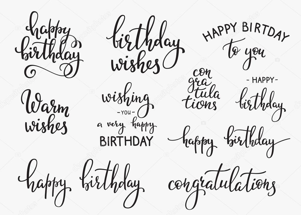 Signo de Letras de feliz cumpleaños \u2014 Archivo Imágenes Vectoriales