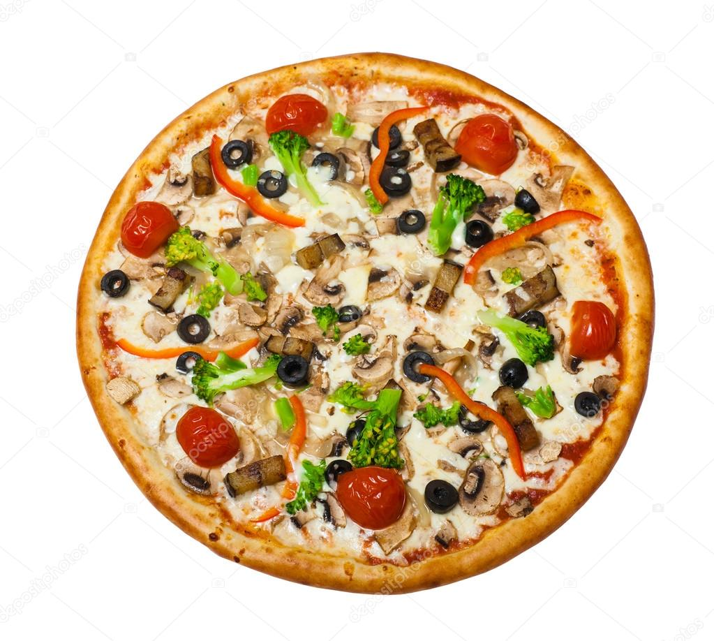 Vegetarische Pizza Vegetarische Pizza Mit Pilz Stockfoto Maffi 100924428