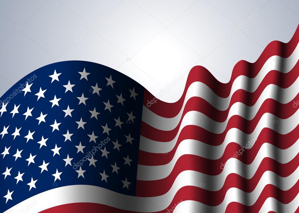 american flag background \u2014 Stock Vector © Alona_S #123047148