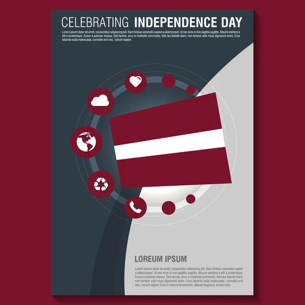 Paraguay Independence Day Flyer \u2014 Stock Vector © ibrandify #93738806