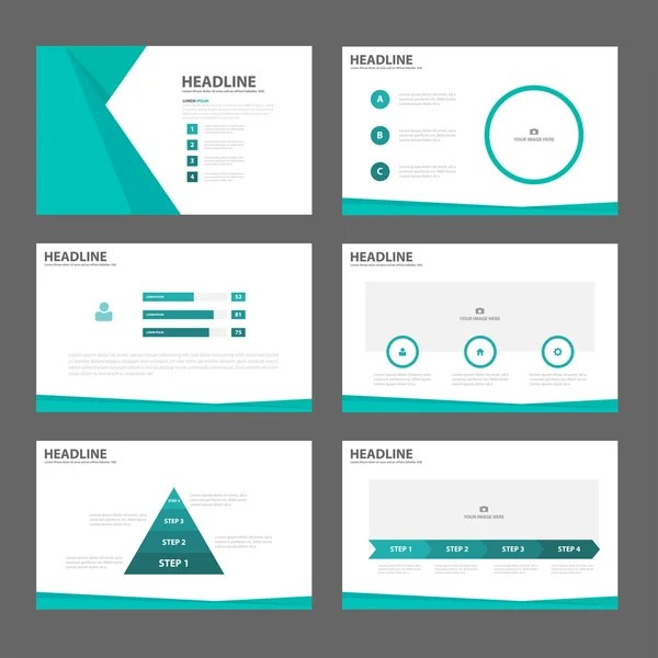 page presentation layout design template \u2014 Stock Vector © TCdesign