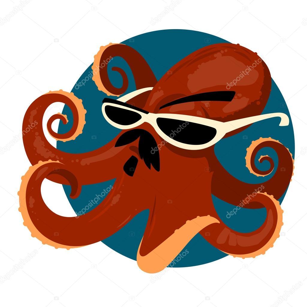 Octopus Glasses Large Octopus In Mexican Sunglasses Stock Vector