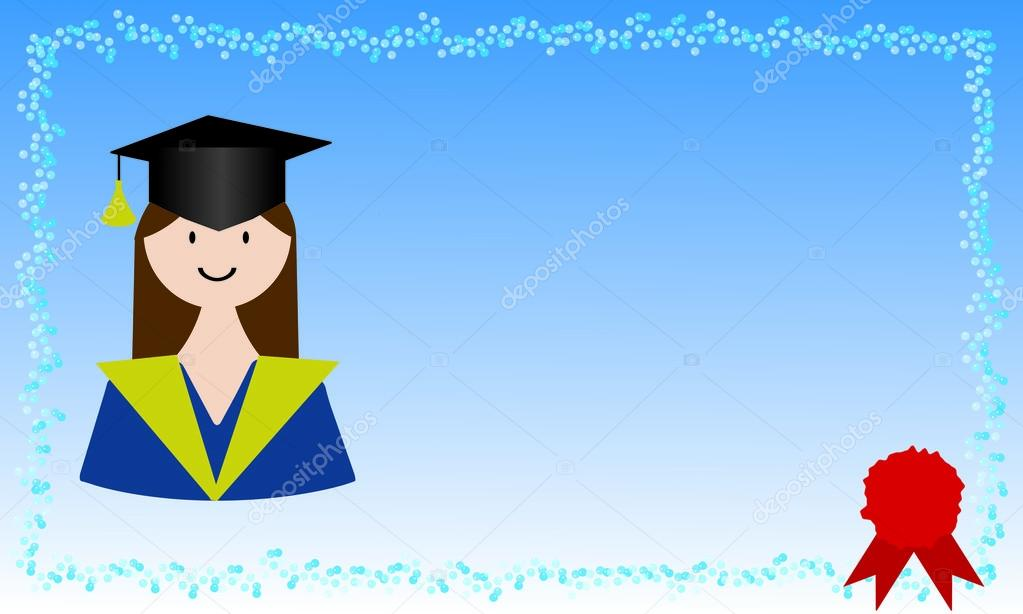 Chica tarjeta para graduación \u2014 Vector de stock © sanrgogmail