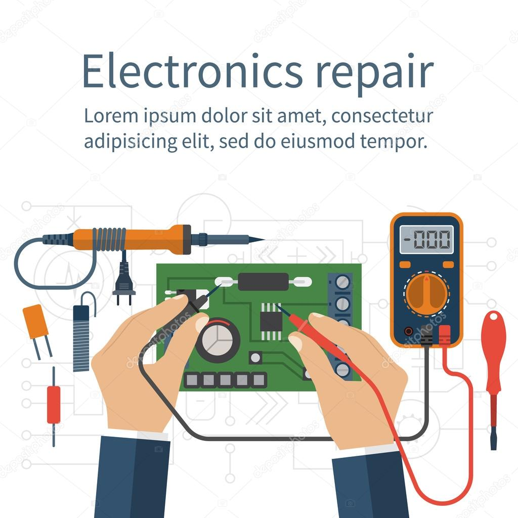 Cute Animated Wallpapers For Cell Phones Electronics Repair Tester Checking Stock Vector