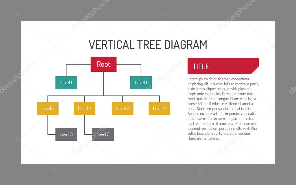 Vertical tree diagram template 2 \u2014 Stock Vector © surfsupvector