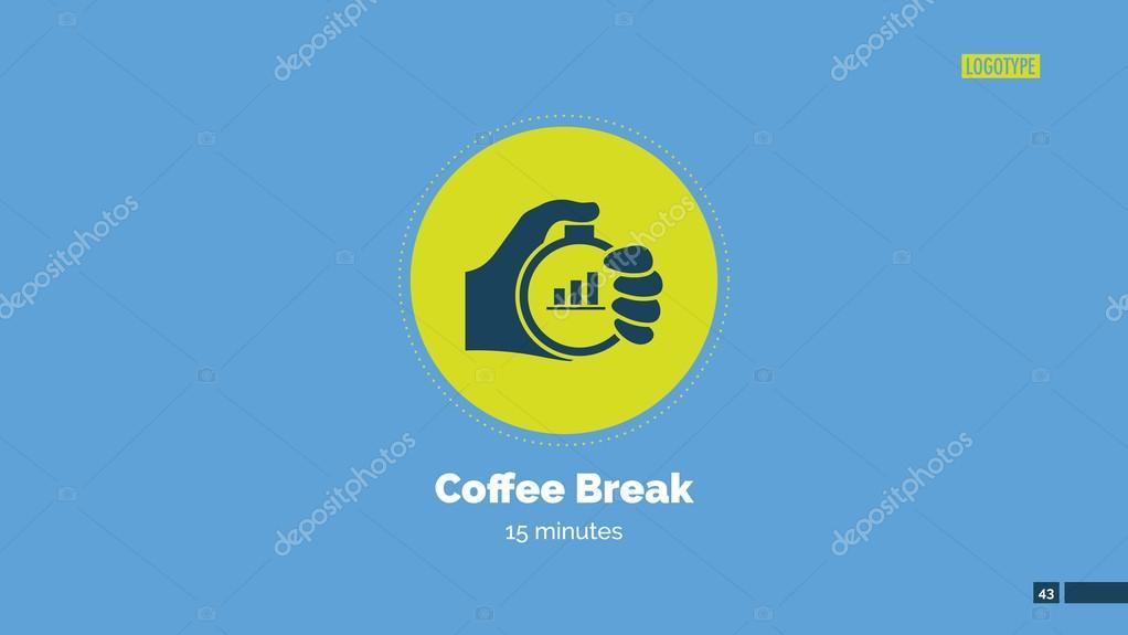 Coffee break slide \u2014 Stock Vector © surfsupvectorgmail #100323686