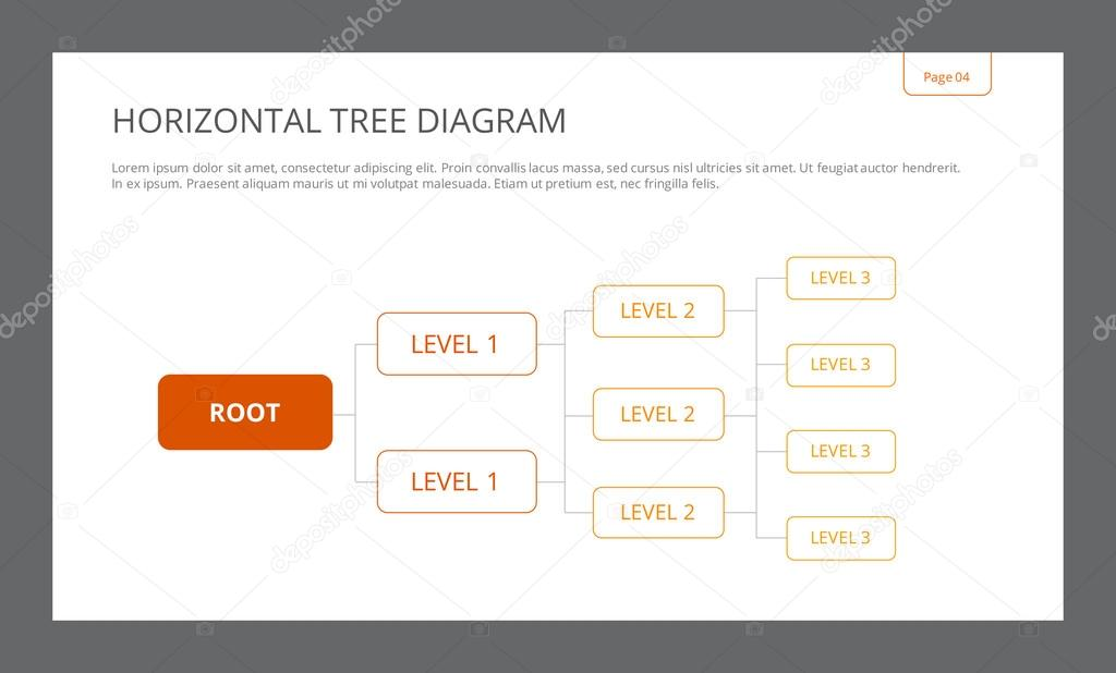 Horizontal Tree Diagram Template \u2014 Stock Vector © surfsupvector