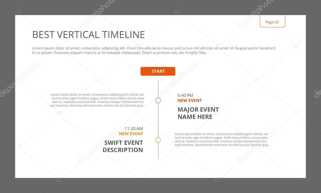 Simple Vertical Timeline Template \u2014 Stock Vector © surfsupvector