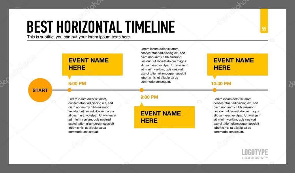 Melhor modelo de linha do tempo Horizontal 1 \u2014 Vetores de Stock