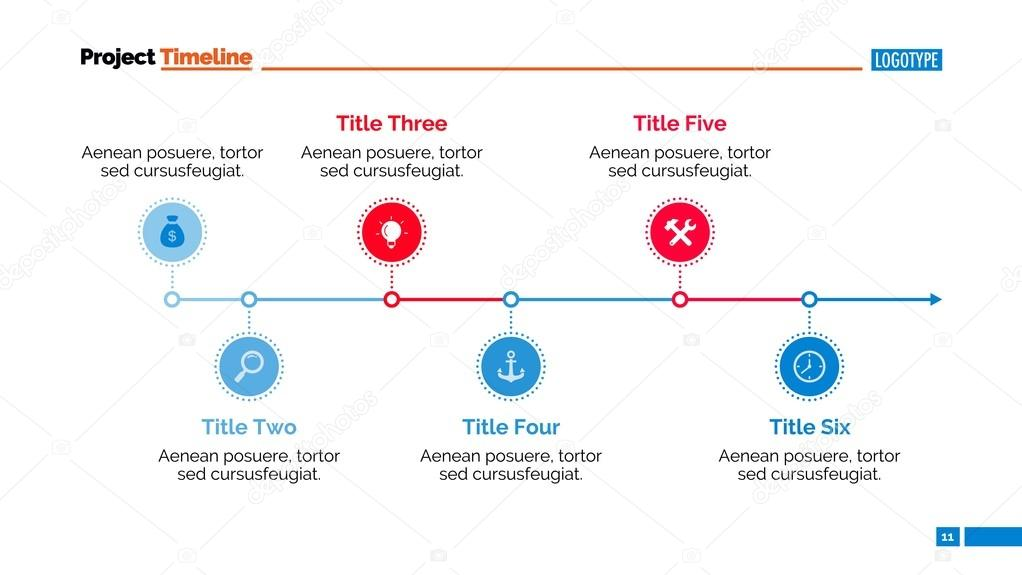 Horizontal Timeline Chart Slide Template \u2014 Stock Vector © surfsup - template for timeline chart