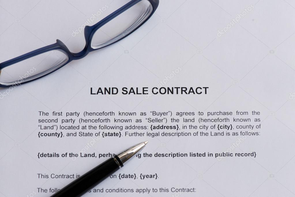 land sale contract useful business word \u2014 Stock Photo © sohelparvez