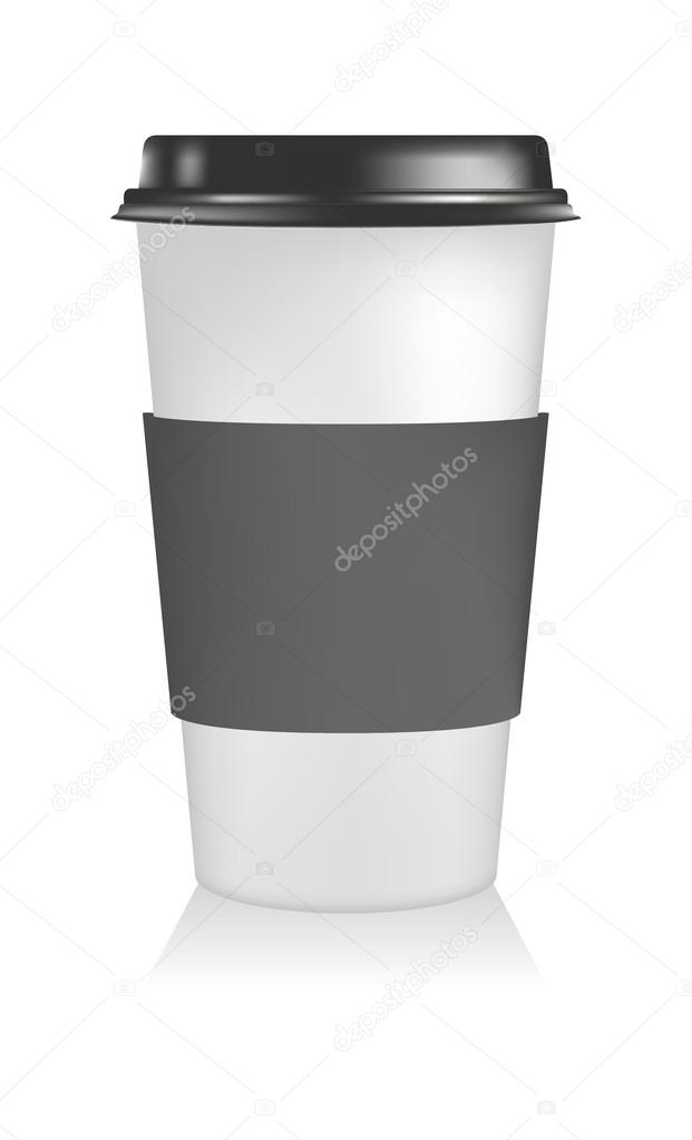 Plastic coffee cup templates Paper Cup to go \u2014 Stock Vector